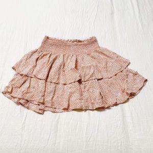 Ruffled Print Skirt